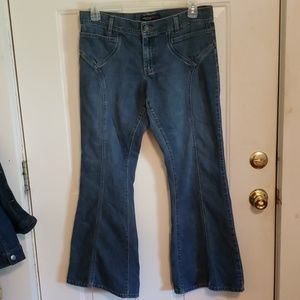 VINTAGE ANERICAN EAGLE FLARE AE JEANS SIZE 12